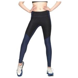 Outdoor Voices Two-Tone Warmup Legging Navy Gray
